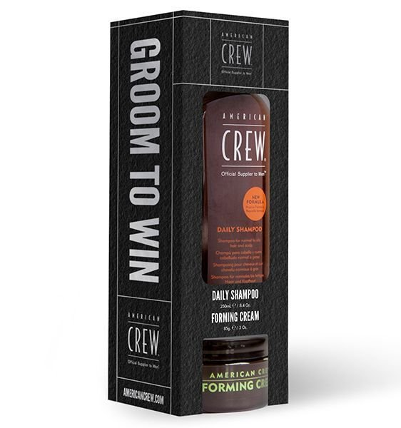 American Crew Groom To Win Daily Shampoo 250 ml + Forming Cream 85 g